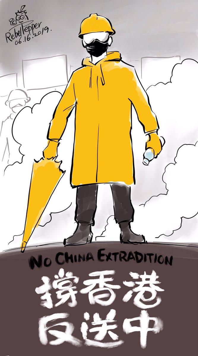 #變態辣椒漫畫 一張漫畫的A面與B面——撐香港,反送中!