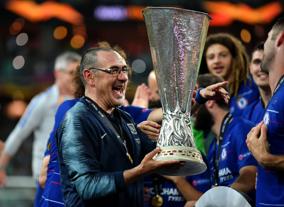 Maurizio Sarri has taken charge of Juventus on a three-year deal, fresh from leading Chelsea to the #UEL title. ⚪️⚫️  Will the former Napoli coach be a success? 🤔 #UCL