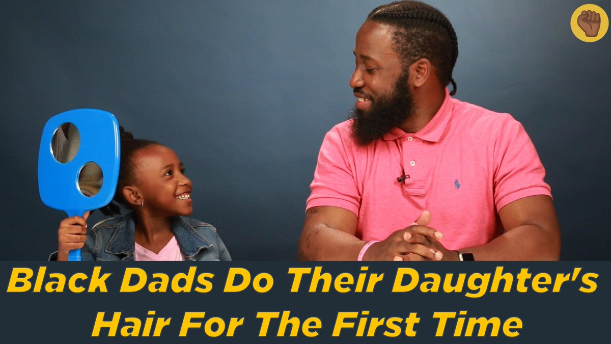 Black Dads Do Their Daughter's Hair For The First Time