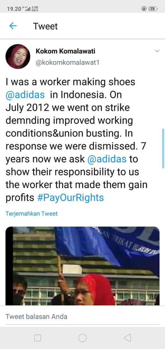 @adidas dan @mizuno berikan hak hak kami jlnkan rekomendasi ILO selesaikan kasus kami  #PayOurRight  #justiceforpdkwomenworkers  #Lips  #GarmentMeToo  #Asiafloorwage