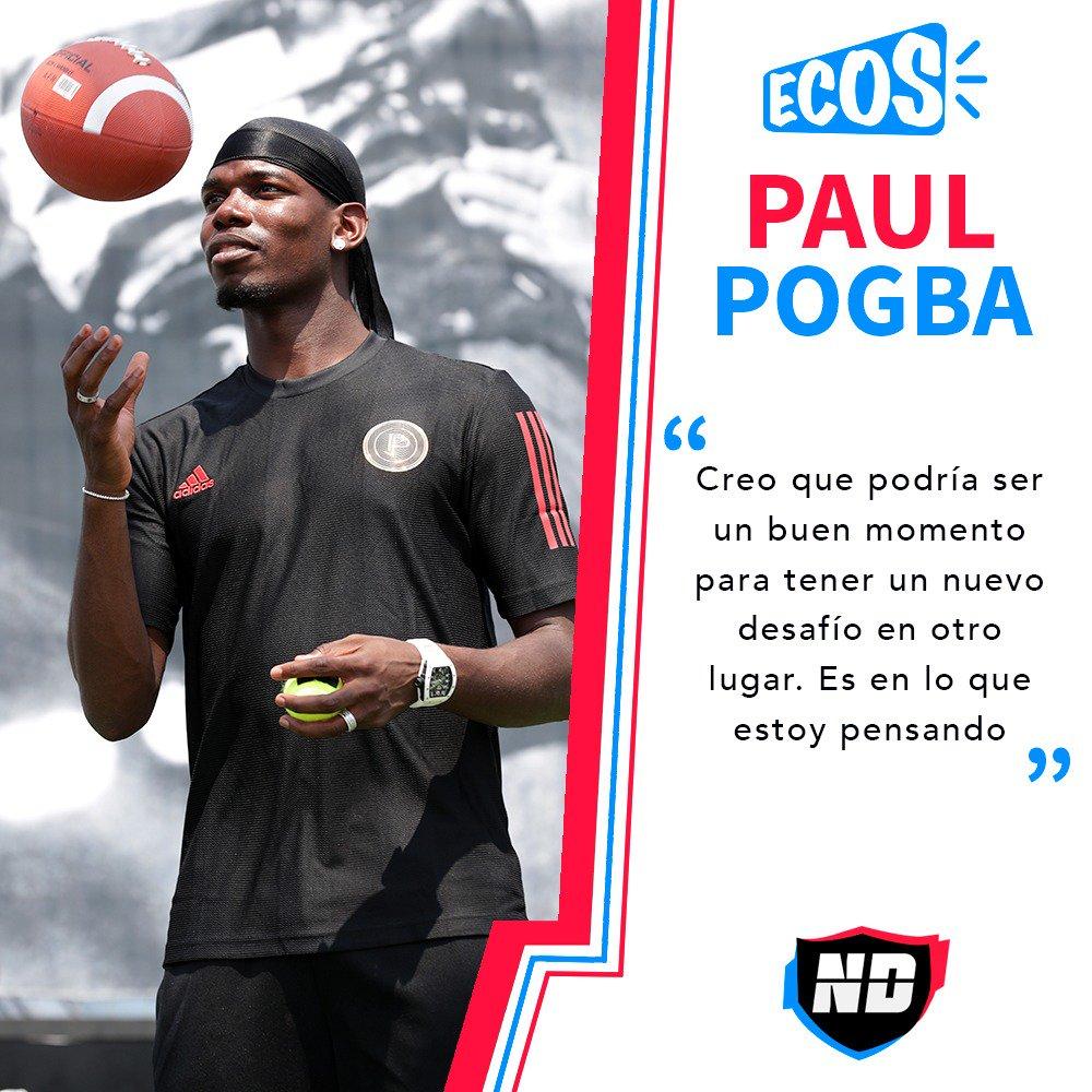 #PremierLeague | #LaCunaDelFutbol🦁  En Madrid se saborean estas palabras. 🗣  Paul Pogba insinuó que su estancia en Manchester llegó a su fin. 🔚          http://bit.ly/Pogbahablódesufuturo…