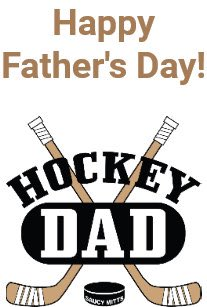 Happy Fathers Day to all the Dads!!! Enjoy your day!!! #sharingyourpassionofhockey #takingmetoearlymorningpractices #supportingmypassion #thankyou