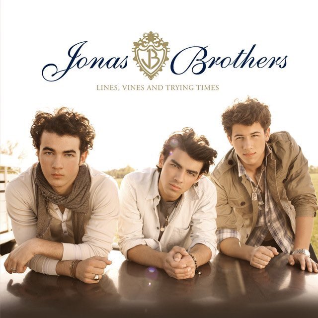 """10 years ago today, the @JonasBrothers released their 4th studio album, 'Lines, Vines and Trying Times.'  It debuted at #1 on the Billboard 200 and spawned the singles """"Paranoid"""" and """"Fly With Me."""" It was their last album before their hiatus. <br>http://pic.twitter.com/nbD2hgTY33"""