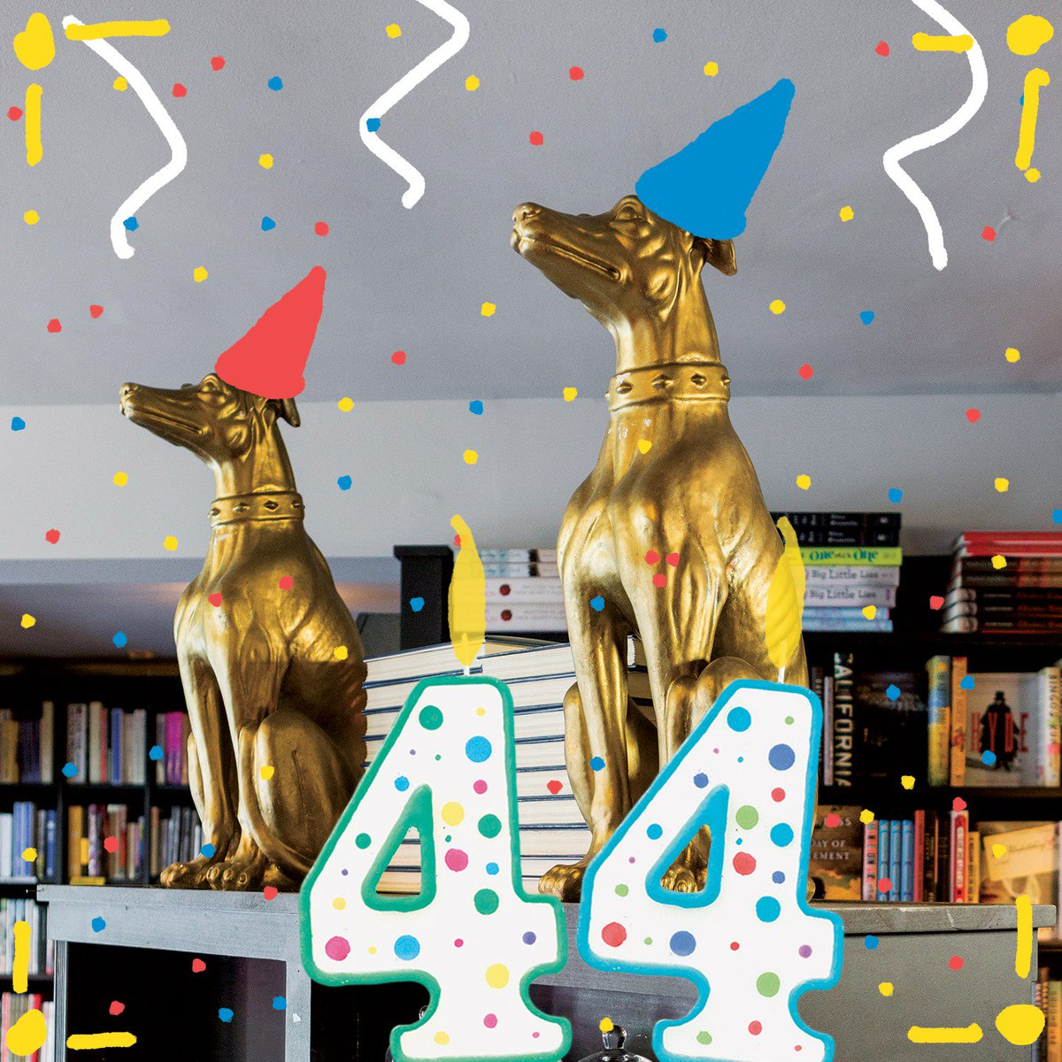 """This month, West Hollywood's @BookSoup, Bookseller to the Great and Infamous, turned 4⃣4⃣! 🥳  """"We'd like to say thank you for 44 GREAT & INFAMOUS years, all of them right here on the world-famous #SunsetStrip! And obviously, we'd like another 44 years, please."""""""