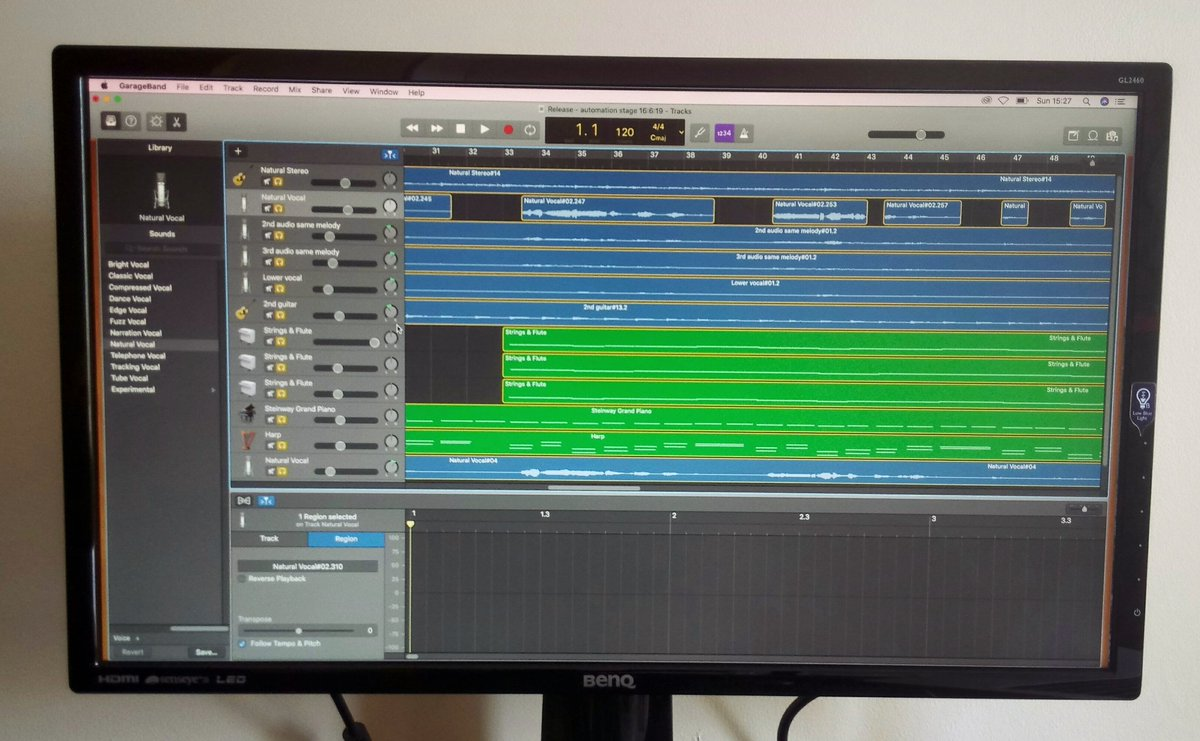 What better way to spend a rainy Sunday afternoon, editing my new song! 🙂  #newsong #spotify #singersongwriter #editing #rainyday #newmusic #irishmusic