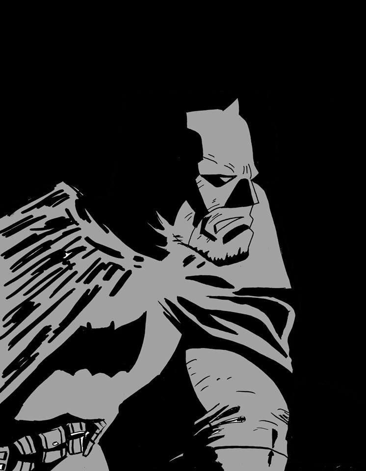 Batman in Frank Miller's Dark Knight Returns style ... #batman #darkknight #darkknightreturns #frankmillerstyle #frankmiller #dc #dccomics #conquesopublishing #cqcomics #digitalart #wacom #photoshop