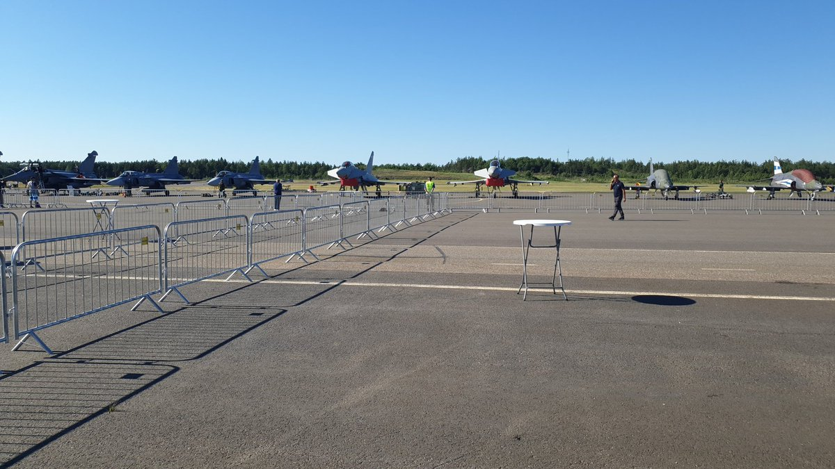 All display planes landed safely. Great airshow.  Many thanks for hosting us. #Turkuairshow #Eurofighter #turku #eurofightersuomelle
