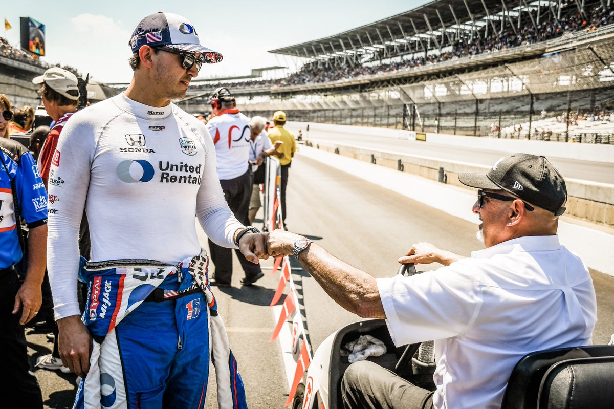 A 👊🏻 to Big Bob for Father's Day. This man has taught me everything I know, but most importantly how to be a man and to respect and treat others. Love ya dad, you're the greatest. #gr15 #15in19 #indycar #racing #racecar #fathersday #thankful #dad #fathersday19 #bobbyrahal