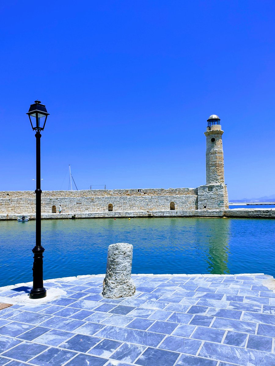 Rethymnon, Crete, Greece The Lighthouse Of Venetian Harbour In Rethymnon #Rethymnon #Crete #travelphotography #June2019 📷#SamsungGalaxyNote9 Good Evening To All !!