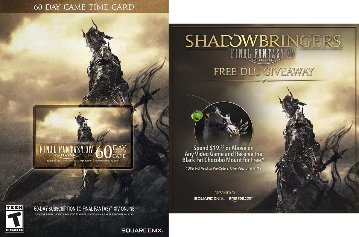 Final Fantasy XIV Online: 60 Day Time Card (Digital Code) w/ free