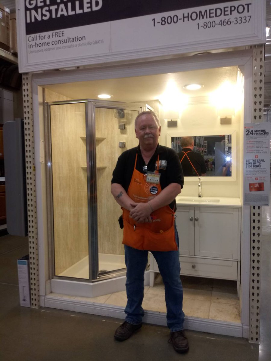 Congratulations to David Stringfellow of @HomeDepot 375 for setting a lead for the store in which the customer purchased a bath remodel. Bringing ten full baskets to his store!!!! #Salesforce #bathroom #KnowledgeToElevate