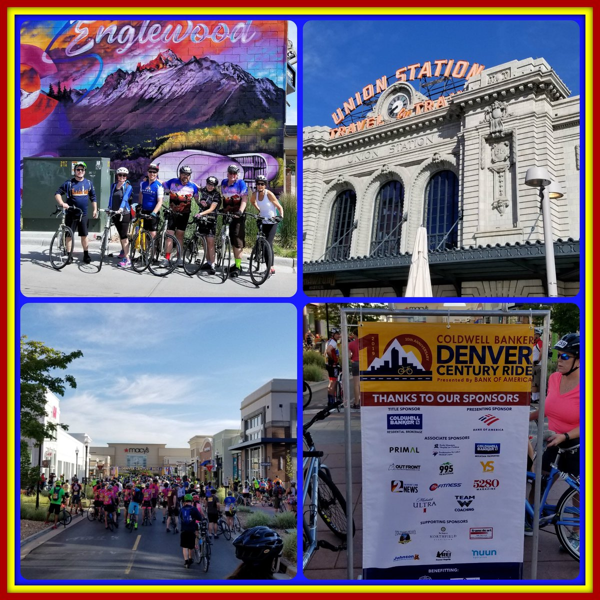 Frame de Art had a great time yesterday at the 10th Annual Denver Century Ride! Our team rode 50 miles around some of the best landmarks, even right past Frame de Art! #DenCenRide #CycleTheCity #Cycling #ColdwellBanker #Denver  @ColdwellBankrCO @VisitDenver @DenversStation