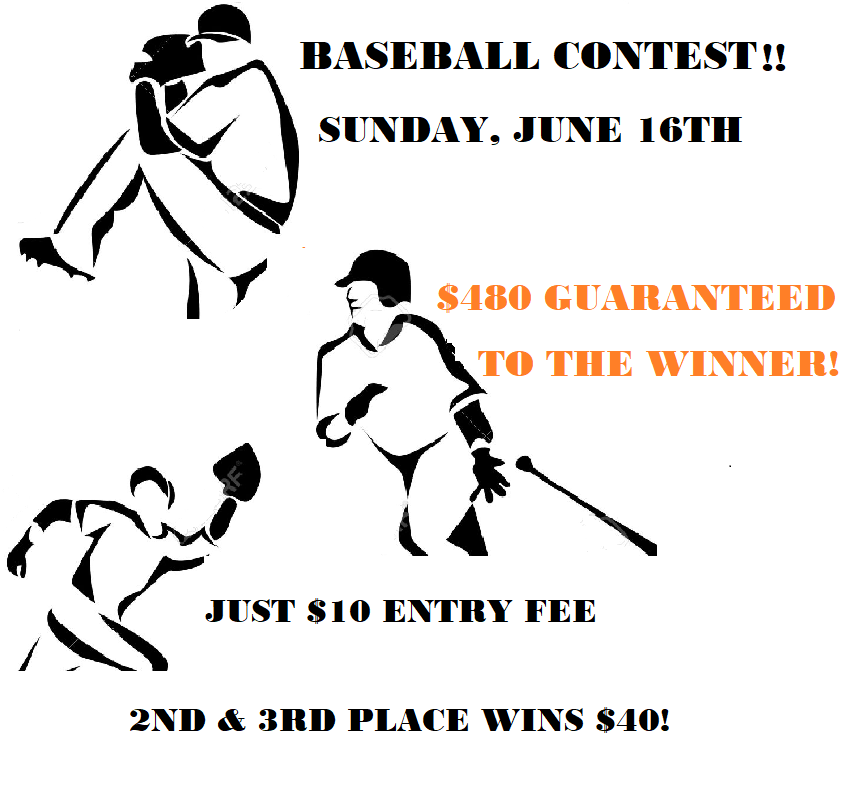 GET OFF THE COUCH!  BASEBALL CONTEST closes in 2 HOURS!  Come & Try our unique baseball platform! You'll LOVE IT!  In each game decide if your team wins by 1, 2, or 3+ runs   Then select a LEAP OPTION!  $480 GUARANTEED!  #GamblingTwitter #sportsbetting #sportscontests #MLB #VEGAS