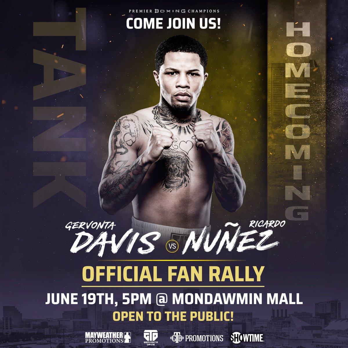 test Twitter Media - .@gervontaa kicks off his July 27 homecoming fight this Wednesday with a fan rally at @MondawminMall. 👑 🦍  #Baltimore #GTDHomecoming https://t.co/OfW70pLGwi
