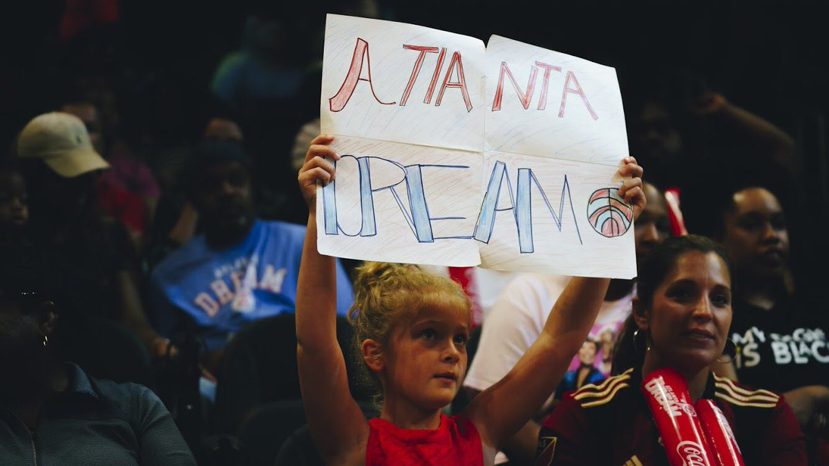 Dads - make a commitment today to take your kids to a @WNBA game. Whether you have a boy or girl, watching female professional athletes is important.  #AtlantaDream #DreamOn #Equality