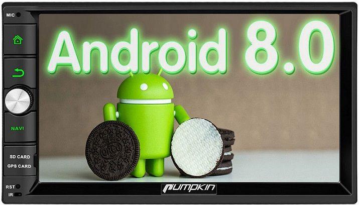 Auf meiner Webseite stelle ich Dir verschiedene Autoradios, tolles Zubehör und nützliche Apps vor:  https://www.android-autoradio-im-test.de/index.php/2018/04/11/das-neue-pumpkin-autoradio-mit-android-8-0/…  Im Bild siehst Du das bewährte Universalgerät von Pumpkin. #autoradio #android #pumpkin #universal