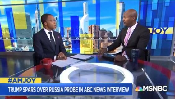 """.@LawProfButler: #RobertMueller did not find """"no collusion."""" What he said is there wasn't enough evidence of a criminal conspiracy to satisfy the Justice Department's high standards for bringing a case. #AMJoy <br>http://pic.twitter.com/ApNYpDTKiy"""