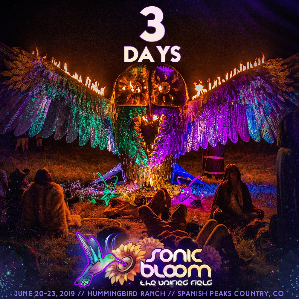 Only 3 days until early-arrival gates! Do you have your passes yet? http://bit.ly/SONIC_BLOOM_Tix   #SONICBLOOM
