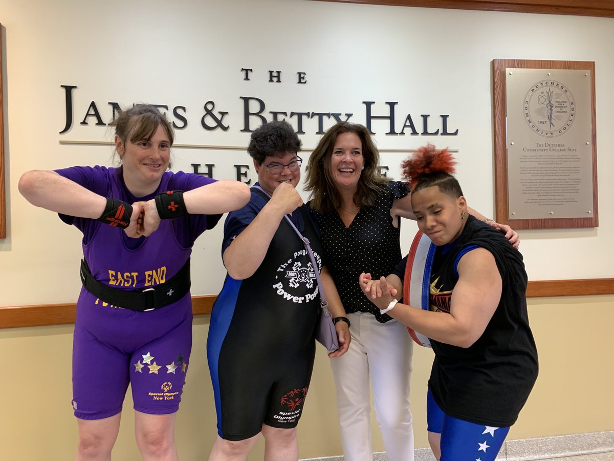 Three of these women are super strong powerlifters. One of them hurt her shoulder giving high fives. All of them are included  in @SpecOlympicsNY regardless of their differences. #ChooseToInclude
