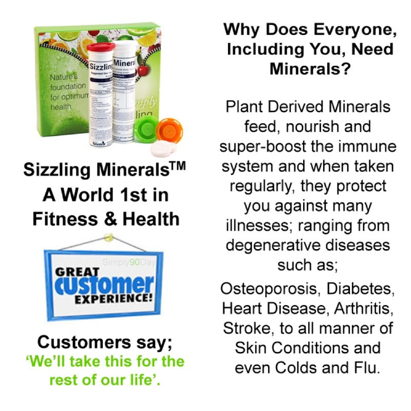 The Ultimate #Health Supplement. Reward your body with the goodness it needs & try #SizzlingMinerals, the very best daily plant derived mineral supplement. SEE VIDEO NOW,  http://bit.ly/SizzlingPresentation… for details, Look Good & Feel Great! Distributors needed, Great earning potential