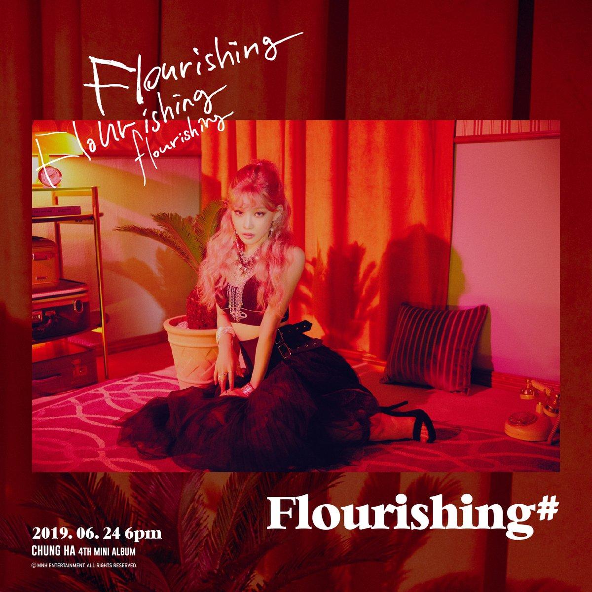 Fire🔥 & Ice❄️! @CHUNGHA_MNHent merilis dua foto teaser terbaru untuk album mini ke-4, Flourishing! #Chungha akan menggelar comeback showcase tanggal 24 Juni dan merilis albumnya secara online, namun untuk versi fisiknya akan mulai dijual 25 Juni. #Flourishing