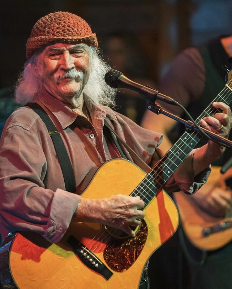 Heading home after 6 wks on the road with this guy. Heart of a lion, tough as nails, an actual rock n roll legend + eternal joy-seeker sharer. Thank you my friend for the constant inspiration, encouragement, friendship + example. #77andkickingass #davidcrosby<br>http://pic.twitter.com/74WdendFaa