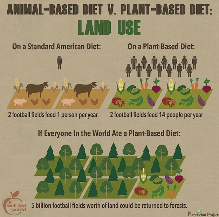 #IHateWhenPeopleSay We dont have enough land for a vegan world
