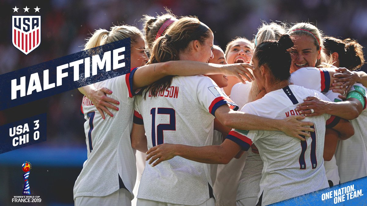 So that was a fun first half. Be back shortly. #FIFAWWC   #OneNationOneTeam