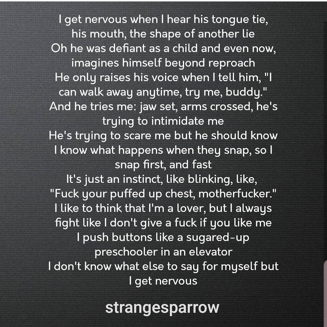 #strangesparrow #poetry #like #retweet #love #sad #angry #ReadMeSpeakme #nervous #poem