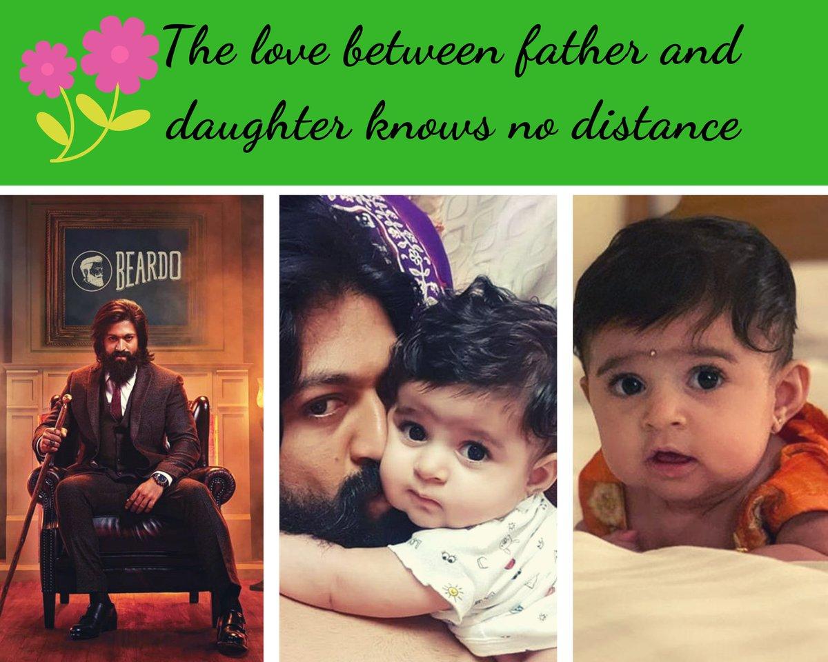 Most adorable father -daughter duo in #Sandalwood cute #babyYR and #Yash . #Yash #KGF #KGF2 #Kannada #KFI #Yashika #HappyFathersDay #HappyFathersDay2019