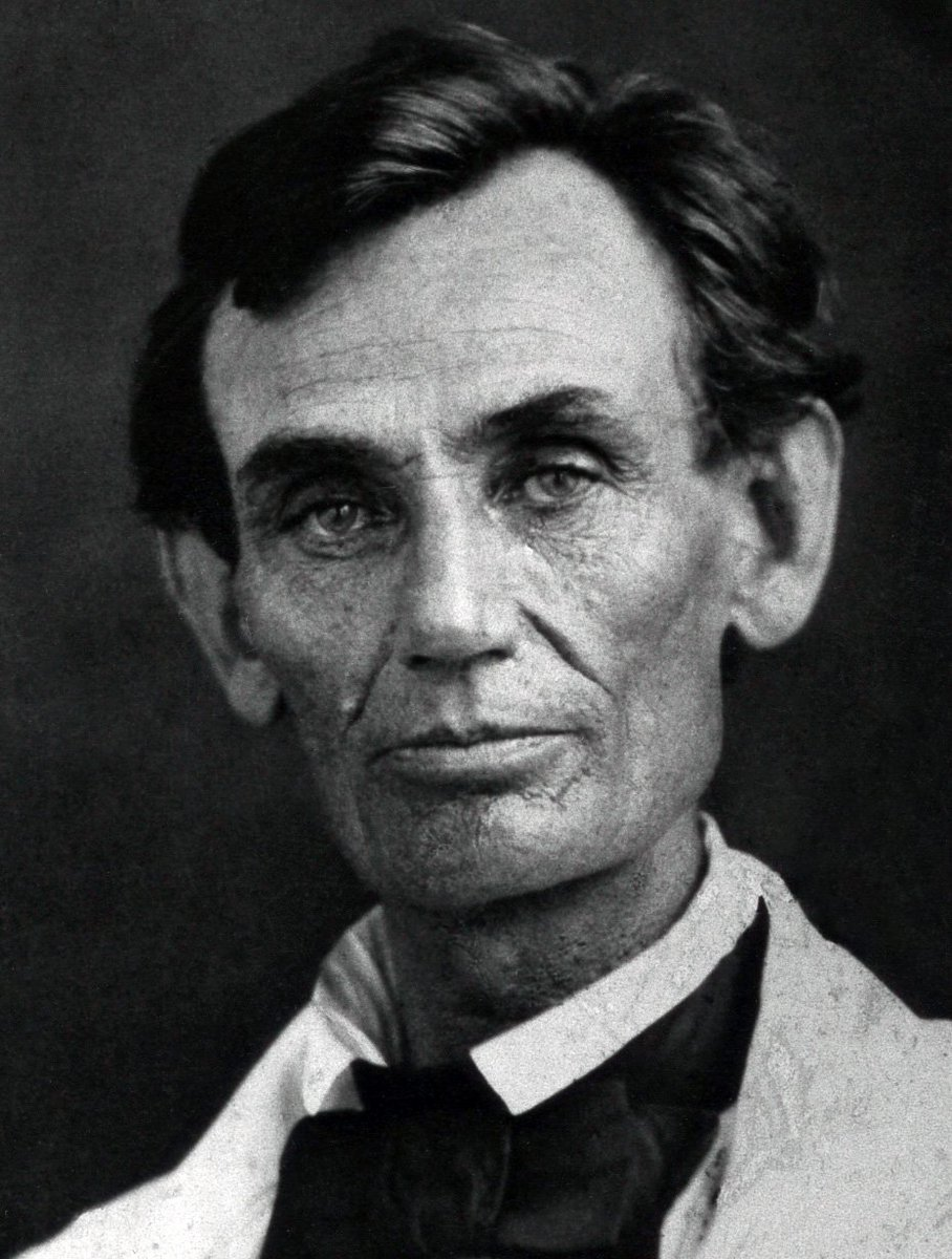 """A house divided against itself cannot stand...it will become all one thing or all the other."" — Abraham Lincoln, in a speech given upon accepting the Republican nomination for U.S. Senate #OnThisDay June 16, 1858.<br>http://pic.twitter.com/S34POwNtdO"