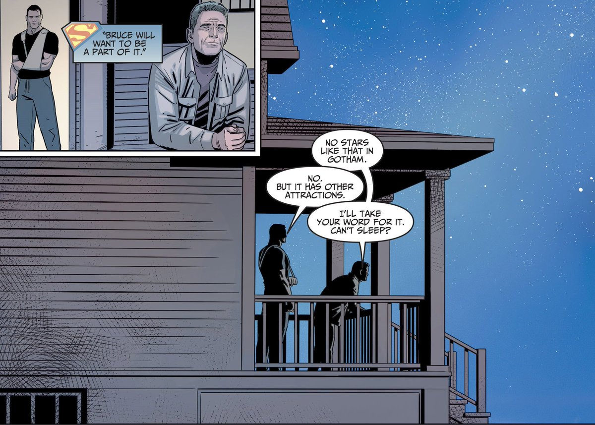 It's not Father's Day here in Australia. But here's Bruce Wayne and Jonathan Kent discussing Clark and Alfred in our last Injustice 2 annual. #Batman #Superman<br>http://pic.twitter.com/ev9gXMbj37