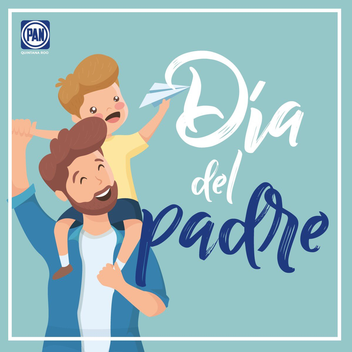 Felicidades a todos aquellos que trabajan en la importante tarea de guiar a sus hijos #FelizDíaDelPadre