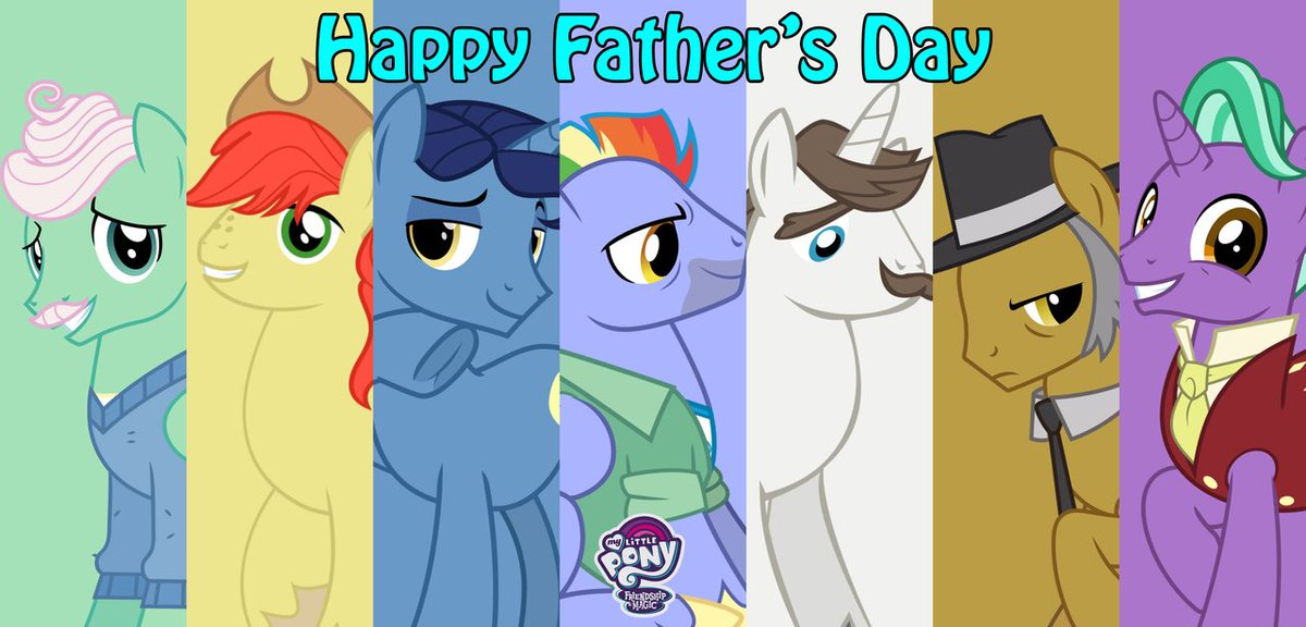 Happy Fathers Day to all the awesome dads, cool step dads, rad god fathers, baller father figures, and hip grandfathers!   #fathersday  #Brony <br>http://pic.twitter.com/ZGU7jYPfQb