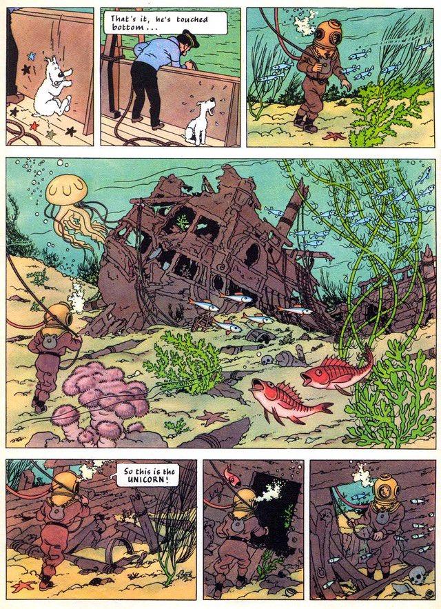 Unicorn.. #Tintin https://t.co/OSJvoptiVK