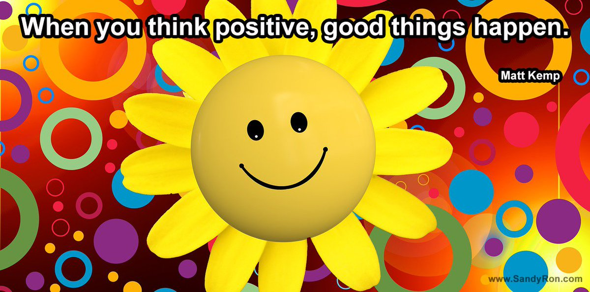 When you think positive, good things happen. #mattkemp #SuccessQuotes #quotesforlife <br>http://pic.twitter.com/n149sF4x9o