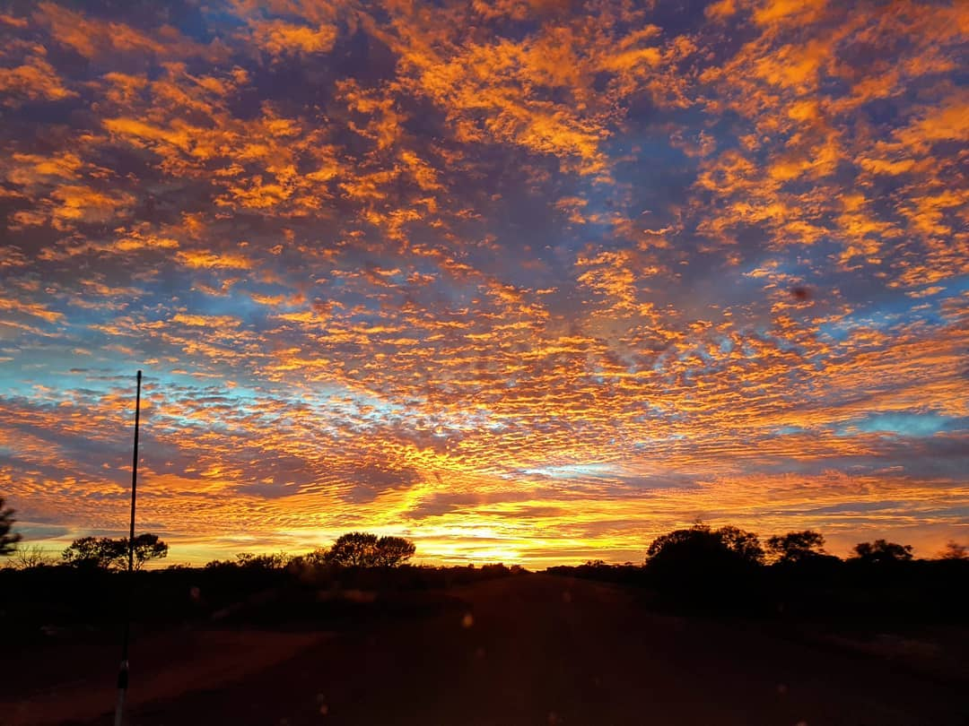 Rise and shine, it's the start of a new week! There's one definite way to make Monday mornings better, and it's an incredible sunrise like this! Worth the early wake up to put you in a great mood for the rest of the day. Pic: IG/mooniemiared #goldenoutback #goodmorning