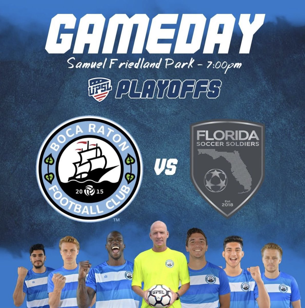 How am i spending my Fathers Day, doing what i love: @BocaRatonFC vs @SoccerSoldiers tonight ⚽️