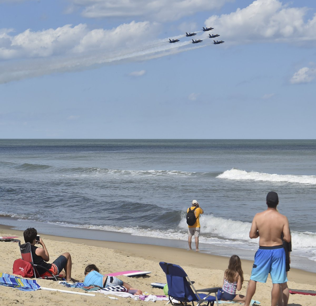 It's the last day of the #OCAirShow, Ocean City, Maryland!  Your #BlueAngels are beach-bound for a 2:45 p.m. show!  #USNavy #USMC #ForgedByTheSea #SemperFi