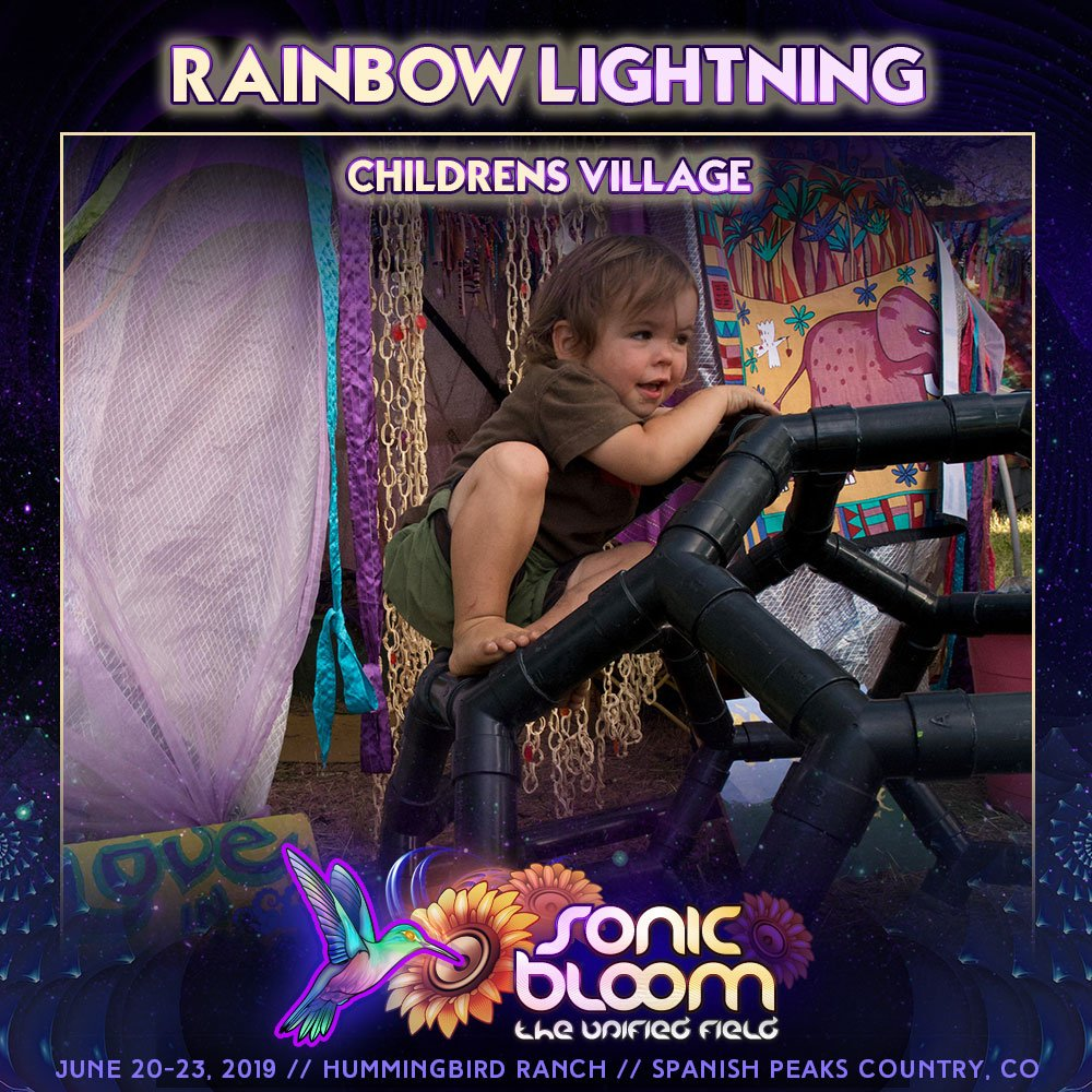 All Kids 12 & are FREE admission!   #RainbowLightning children's village #kids #fun central - kids & full-family themed #workshops!  There's even a Reserved-space #FamilyCamping zone this year #SONICBLOOM   http://sonicbloomfestival.com/family-camp/