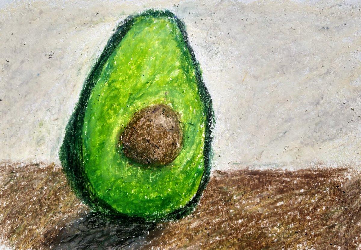 Avocado in oil pastel #art #oilpastel #avocado #stilllife https://t.co/NYegKTLAPZ