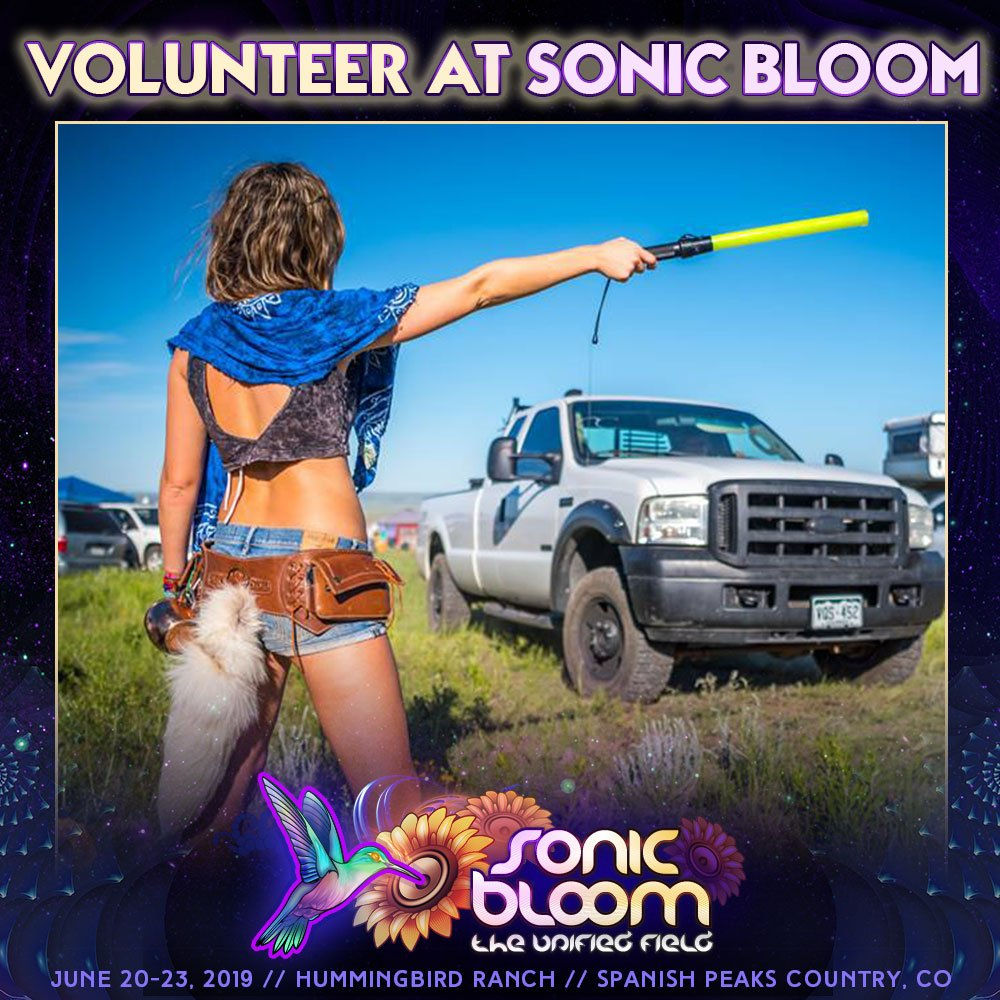 Earn a free ticket & have fun meeting cool new people while you're at it!  http://sonicbloom.festiVOL.net/bloom2019   #Volunteer at #SONICBLOOM 2019! 3 Days Away!