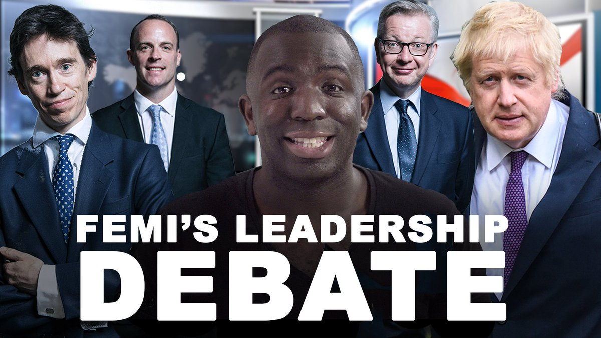 .@Femi_Sorry holds the only Conservative leadership debate WITH Boris Johnson. #C4debate #LetUsBeHeard
