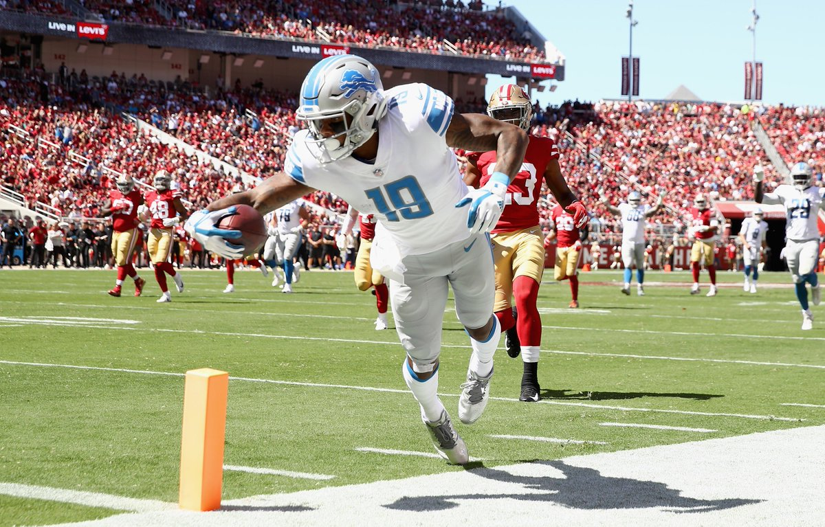 After the #Lions traded Golden Tate, Kenny Golladay averaged 9 targets, 5 catches, and 73 receiving yards per game (15 YPC).  Golladay remains a top breakout candidate as he steps into a bigger role in Detroit's offense.  What round are you drafting him in #FantasyFootball? https://t.co/ExOMoul884