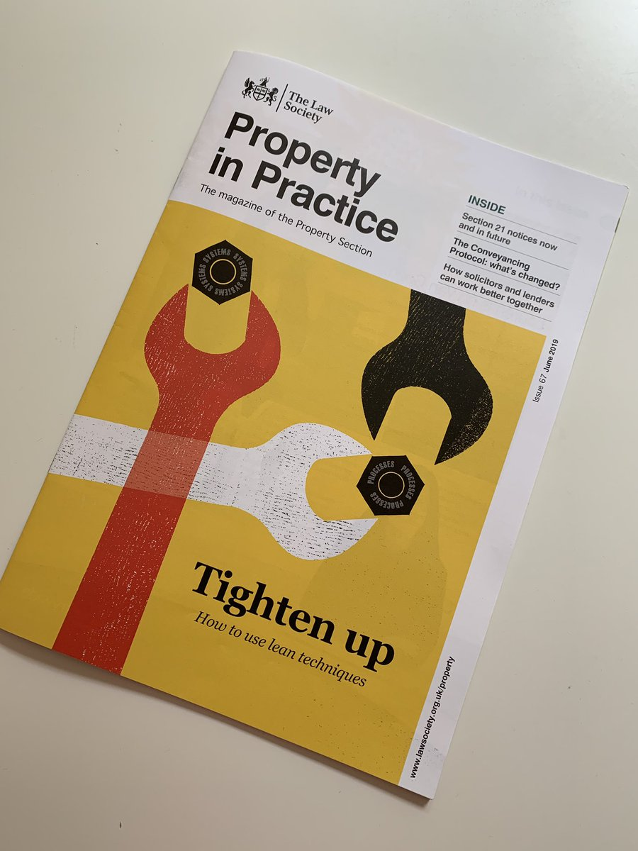 Great reading this weekend #lawsociety #propertyinpractice cover story on lean techniques written by me with the support of a very dedicated team at #Thinkwild thank you @jane_taylorJT @mail_freeman @SmurFyona @WildDarren