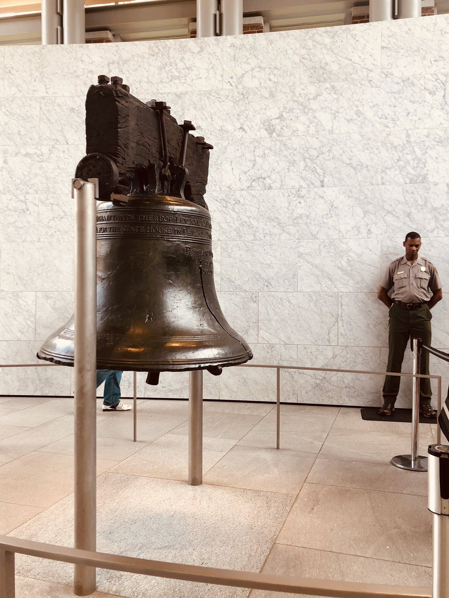 Saw the bell. It's a bell. #libertybell <br>http://pic.twitter.com/muHDA1g4tf