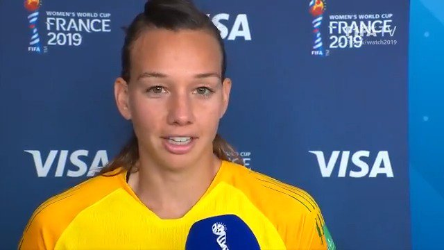 (🗣Spanish) The #PlayeroftheMatch presented by @Visa for #USACHI is... @TIANEendler of @LaRoja! Heres her post-match thoughts @VisaCL | #FIFAWWC