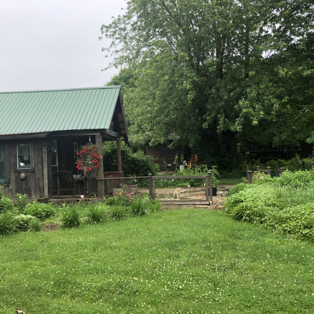 I have raised my family in a 1500 sg. Ft. House by choice.  Used the money I saved to install a geothermal heating system.  My husband has a workshop and office in an old garage on the property. He tore down a barn and made us a summer house.  I don't need more. <br>http://pic.twitter.com/Gep3AKDESh
