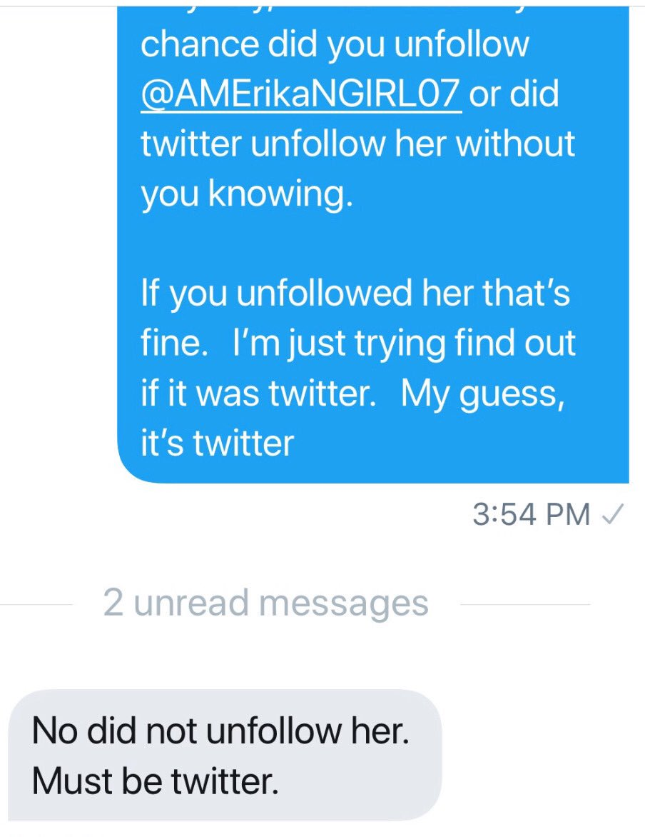 Is it really possible I lose followers every day? No!I've submitted endless tickets to @Twitter Funny how 20,000are not following me back or blocked me WOTHEIR KNOWLEDGE Stop censoring conservative accounts! @RudyGiuliani RudyGiuliani @parscale @DevinNunes #MondayMotivation