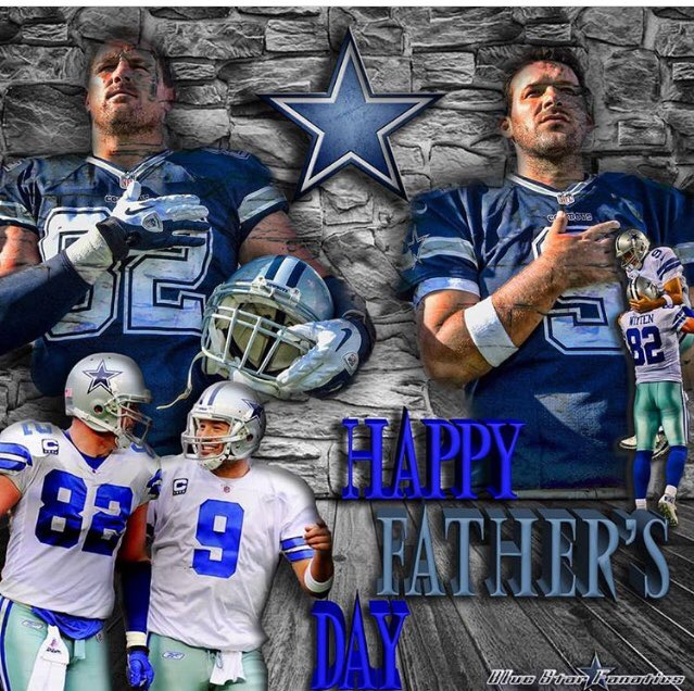 Love this pic Happy #FathersDay @JasonWitten and @tonyromo and the great dads of #Cowboynation 🙌🏼🏈 ✭ https://t.co/LyjZDoWkKg